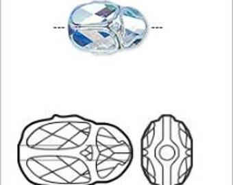 Swarovski Crystal, #5728 Scarab Bead 12x8mm, 1 Piece, Crystal Aquamarine AB 2X