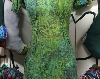 Spring Green Tunic Tuck Top S/M