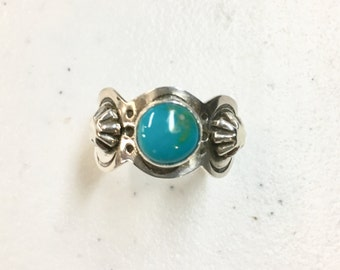 Cigar Band Style Turquoise Ring