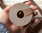 Vintage tan bias ribbon roll,New old stock,Seventies light brown ribbon bias tape,Roll of ribbon,Border tape
