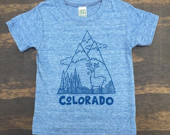 Blue/Blue Colorado Mountain Shirt