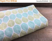 50% OFF- Leaf Fabric-Reclaimed Bed Linens-Green