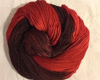 Handdyed Merino and Silk Sock Yarn GARNET