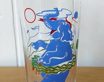 NEW ROOF SALE vintage Big Top Circus glass