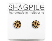 4 Colours Available! Little Leopard - Super Mini Nickel Free Button Stud Earrings - Handmade in Melbourne, Australia