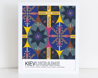 Kiev, Ukraine travel poster