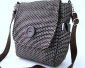 messenger bag women, brown crossbody bag, womens backpack handbag, brown purse, brown backpack, zipper bag, fits IPAD,