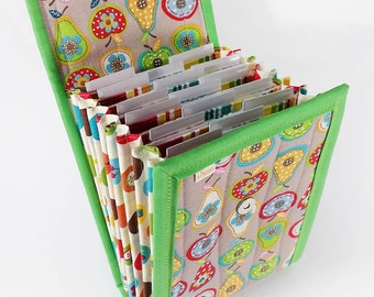 Circular Needle Case - Apples and Pears - Needle Holder Needle Wallet Circular Needle Organizer Bold Colors Fruit