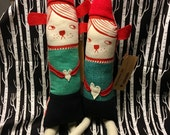 CUSTOM listing for Corrie! 2 reluctant elves.