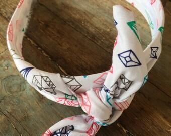 Diamond Knot Tie Headband Bandanna Head Wrap Rock Fashion Headband