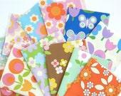 "Alice Apple Retro Floral Fabrics Sample Pack - 12 Pieces 7"" x 5"""