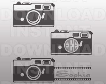 Vintage Camera SVG File -Vector Art for Commercial & Personal Use,Download SVG Cut File for Silhouette and Cricut Cutter