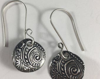 Furngully Earrings in Sterling Silver Fern Floral Spring Drop Gifts for Her Birthday Christmas Fairy Princess