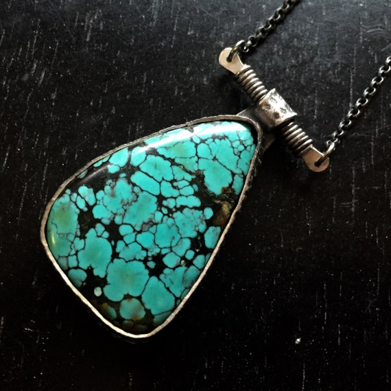 FOR MAUREEN Turquoise and Silver Pendant