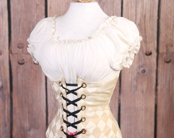 Waist 45-47 Cream Harleqin Wench