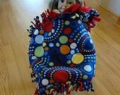 "Circles fleece 18"" doll blanket"
