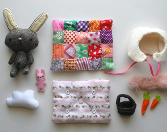 Bitty Bunny--Little Brown Bunny Play Set with Accessories