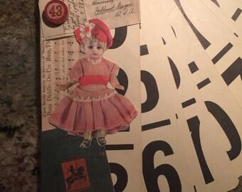 Vintage flashcards junk journal