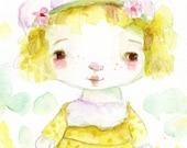 Lemon Meringue - 5x7 original watercolor
