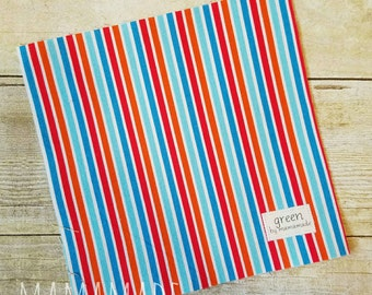 Summer Stripe - Reusable Sandwich Bag | Snack Bag | Waterproof | Travel Bag from green by mamamade