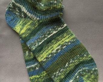 Handcranked Sport Socks, Ladies size 7-8, Mens shoe size 5-6, csm socks, circular sock machine socks, Treat for your Feet