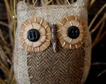 Primitive Owl Folk Art Ornie Digital PDF Pattern