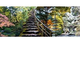 Seasons at Portland Japanese Garden Digital Painting Gallery Wraps, Canvas Panel, or Fine Art Prints