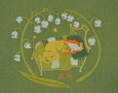 Sleeping Beauty in Green - Heather Ross for Kokka RARE