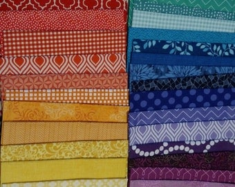 36 Color Wheel - Fat Eighth Bundle - Quilting Fabric