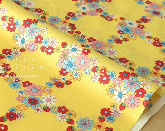 Japanese Fabric Atsuko Matsuyama Fancy Cross - yellow - fat quarter