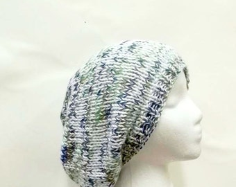 Hand knitted slouch hat tam baggy beanie 5131