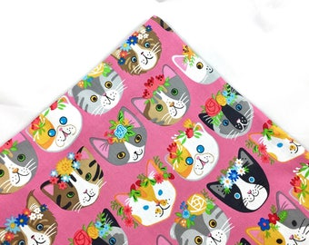 Cats With Flower Crowns Organic Catnip Mat Toy By For Mew, Refillable, Washable, Cat Bed, Cat Furniture, Gift For Cat Lovers