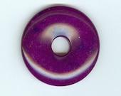 45mm Purple Malay Jade Gemstone PI Donut Focal Pendant 1007T Dyed