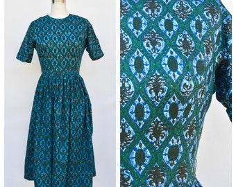 1950s picnic dress / extra small