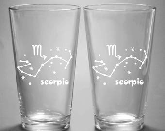 Scorpio Zodiac Constellation Pint Glass
