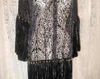 Black Velvet and that Little Girl Smile Maleficent Dark Jacket Dress Ooak