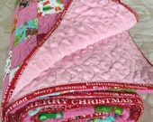 Christmas Quilt PINK Patchwork