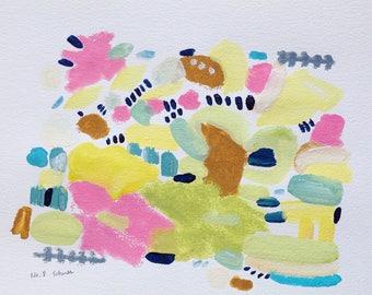 No.8 original acrylic abstract painting