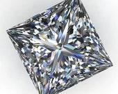 Private listing for Eun-Cheong Kim - ZAYA moissanite - princess cut moissanite, loose stones