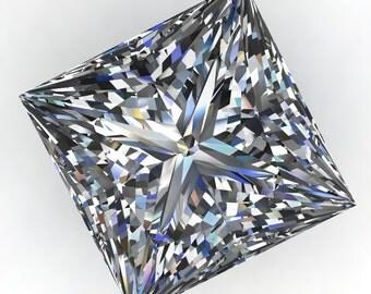 NEO moissanite - princess cut NEO moissanite, near colorless moissanite, square moissanite