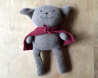 Recycled Cashmere Teddy Bear - one of a kind
