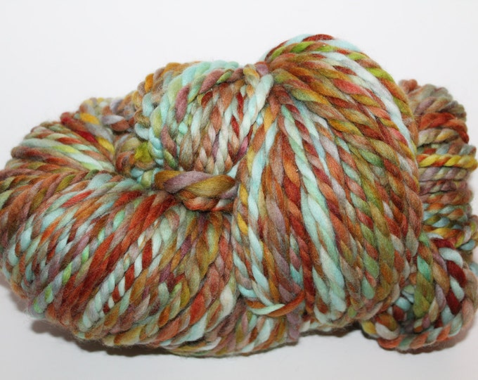 Handspun Polwarth Wool Yarn.  2ply Bulky Weight. Huge Skein. 1lb. 220yards.