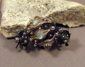 Handmade Lampwork Beads by Monaslampwork - Smokey - Lampwork Glass by Mona Sullivan Opalescence Flowers Organic Boho Tribal