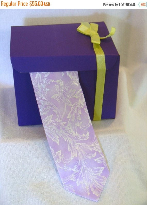 NOW on SALE Wallace...Orchid Pearl Three inch Tie