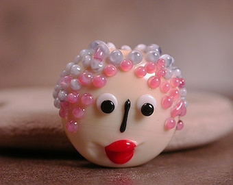 Glass Face Bead Lampwork Focal Divine Spark Designs SRA LeTeam