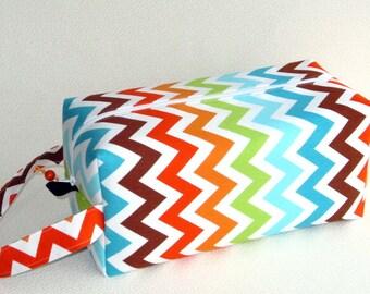 Bigger Boxy Bag Knitting Project Bag - Remix Chevron