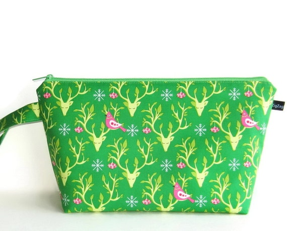 Wedge Bag, Shawl Project Size Knitting Bag, Festive Nest