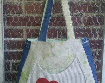 May Patchwork Fabric Tote