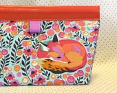Sleepy Fox Oilcloth Snappy Pouch - 2 sizes
