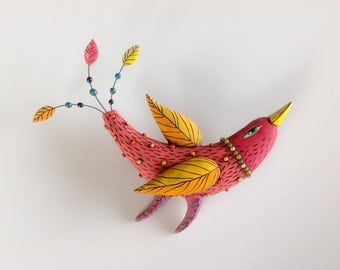 Red Bird with Yellow Wings